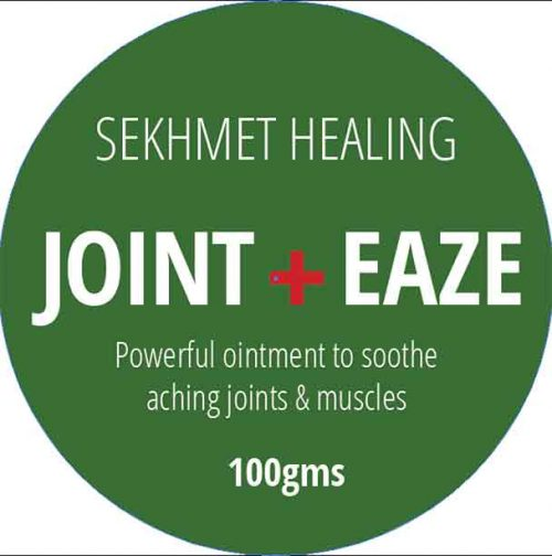 Joint Eaze Ointment Sekhmet Headling Cannabis Root and essential oils in a base of coconut